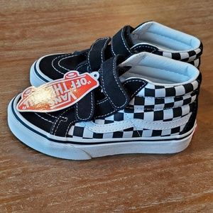 Toddler size 12 Vans Checkered classic High tops